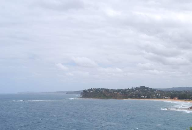 View of Avalon Beach NSW and the Coastline