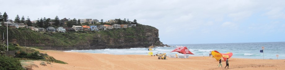 Wider View of Bilgola Beach early in the Morning