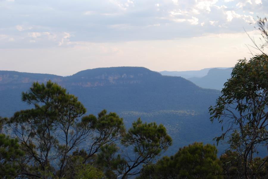 The town of Leura has great views of the Blue Mountains
