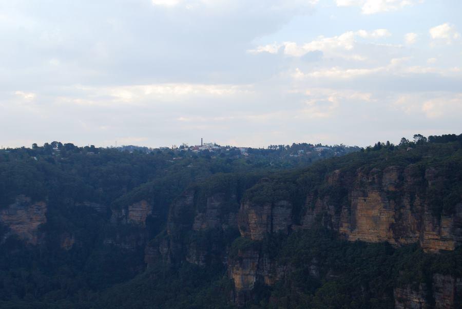 Town of Katoomba above the Sandstone Ridges