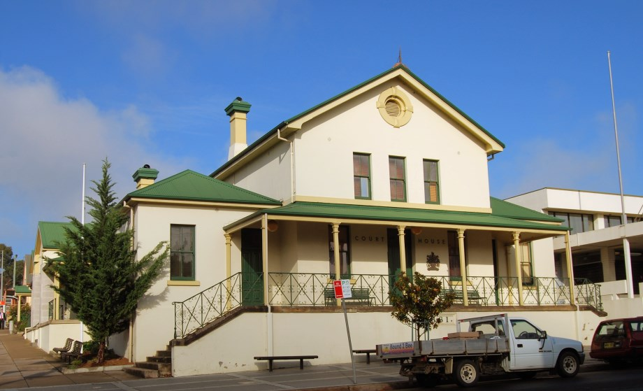 The Old Courthouse (1881) in the town of Bega, NSW.