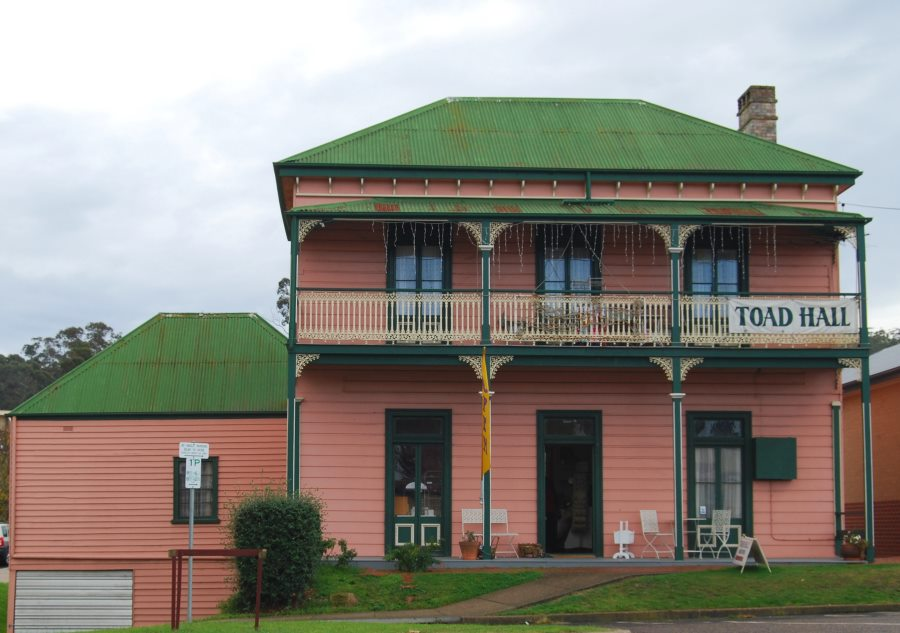 Toad Hall is an iconic historical Pambula building built around 1880 that has had many uses through the years.