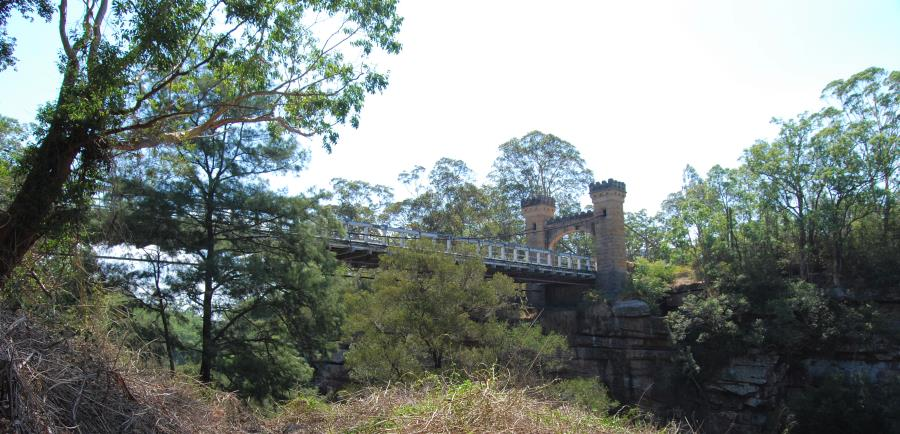 Kangaroo's historic Hampden Bridge, which crosses the Kangaroo River.