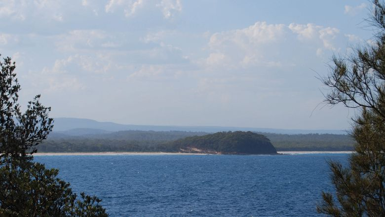 Bannisters Point, Mollymook - View of Narrawallee Beach.