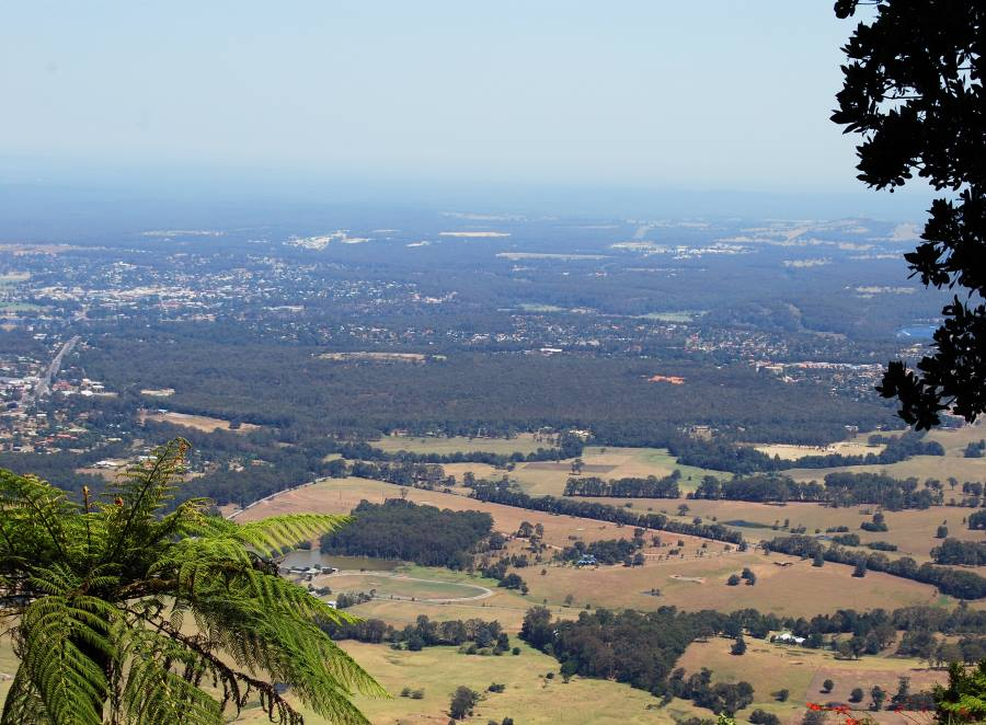 View of Nowra and Bomaderry. The Shoalhaven River is to the right of the Photo