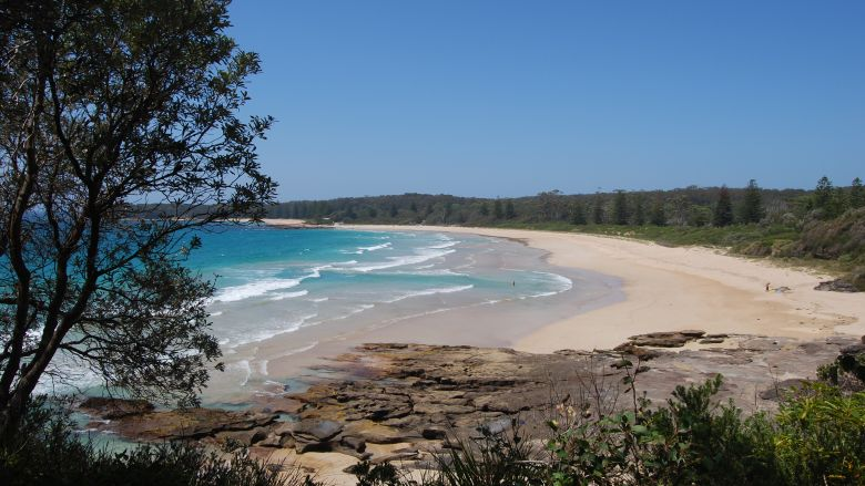 NSW South Coast - Beach sands here range from comfortably coarse reddish sands to glistening fine white.