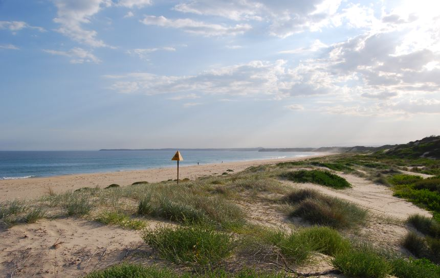 Long idyllic beaches along the South Coast are many, with unspoilt views and nary a footprint