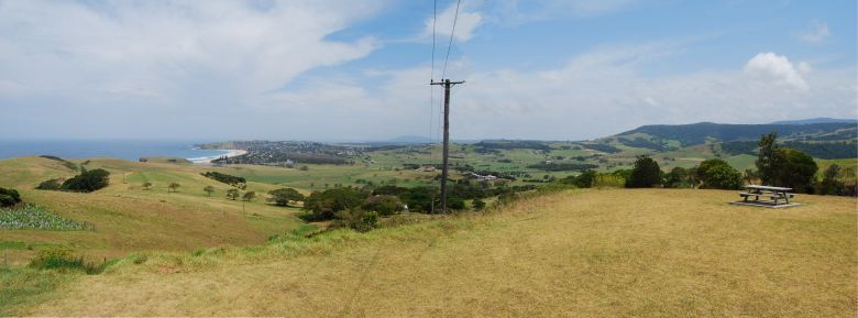 Panoramic photo of Gerrigong and Rose Valley NSW.