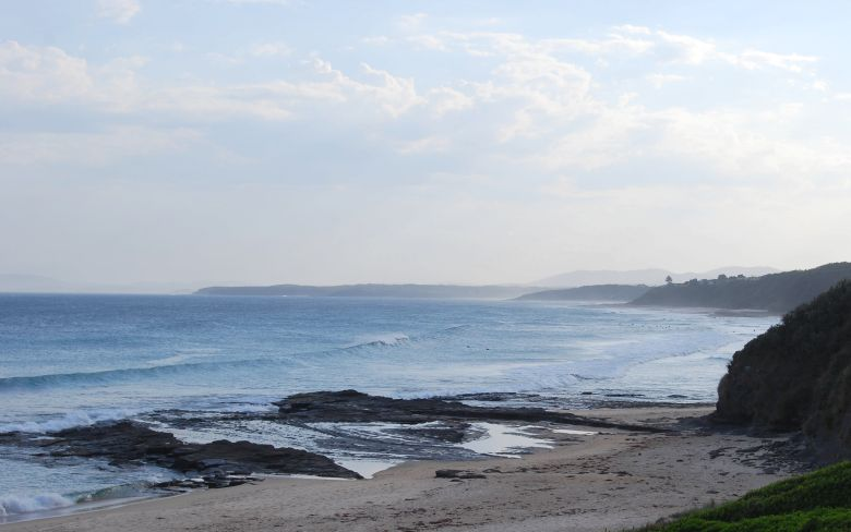Beaches stretching south - pictured here is the Bombie, with Rennies Beach just further south.
