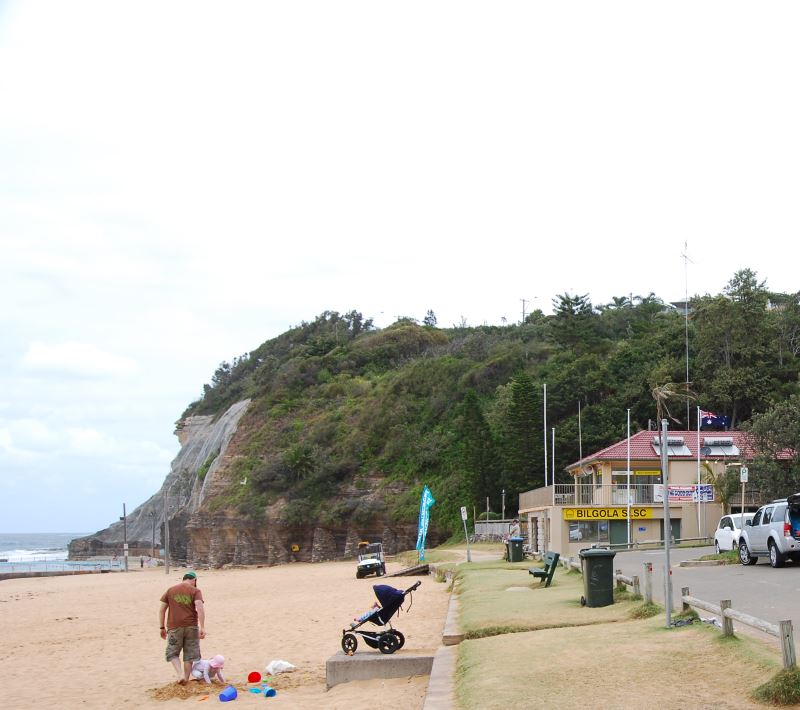 The Surf Life Saving Club at Bilgola Beach