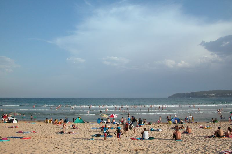 Freshwater Beach with North Head in the distance