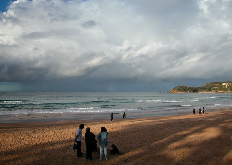 Rainbow off Manly Beach after a Summer Storm