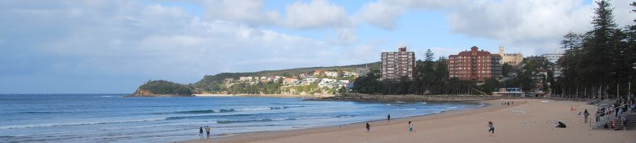 The South End of the Beach, with Little Manly Beach in the Background