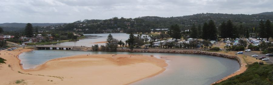 Narrabeen Lagoon with the Outlet to the Ocean