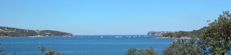 Sydney Harbour Heads as seen from Fairlight, Kay-Ye-My Point
