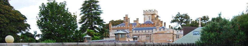 Government House as seen from the Royal Botanic Garden Sydney