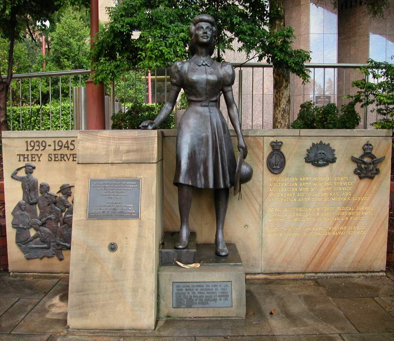 Statue dedicated to the Women in Service, Sydney CBD