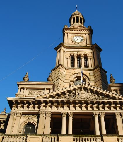 Early Sydney Landmark: The Town Hall Clock