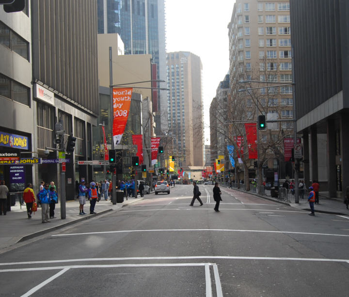 George Street - Normally Jam Packed with Traffic this early in the Morning