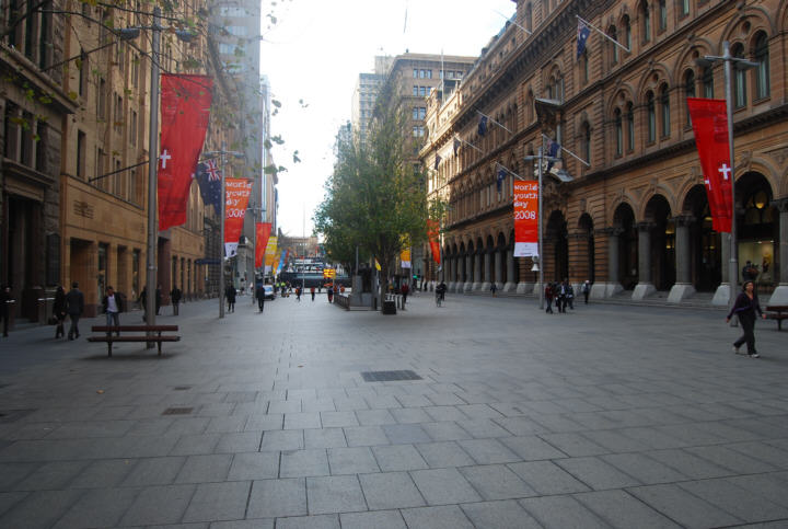 Early Morning - Looking North with the GPO on the right