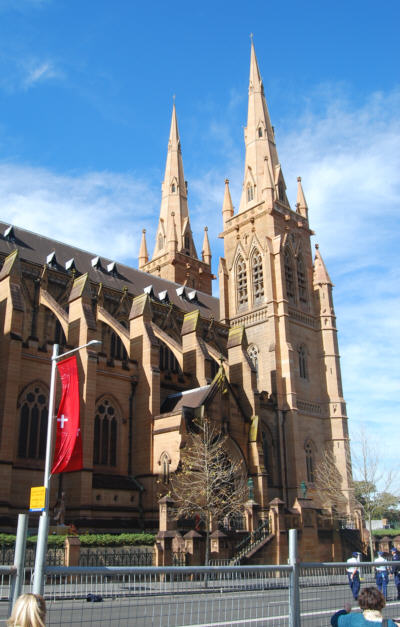The Spires of St Marys Cathedral.