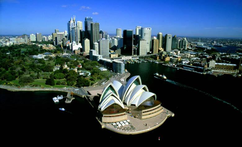 Sydney Cove - The Opera House, Royal Botanic Gardens, Circular Quay and The Rocks.