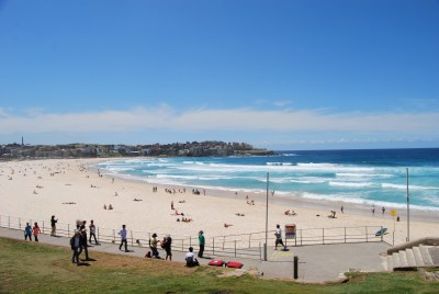 One of the many great beaches of Sydney: Bondi Beach