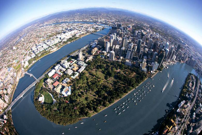 Brisbane - Scenic with relaxed feel.