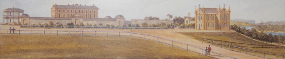 Left to Right: Rum Hospital, Hyde Park Barracks and the early St. Mary's Church