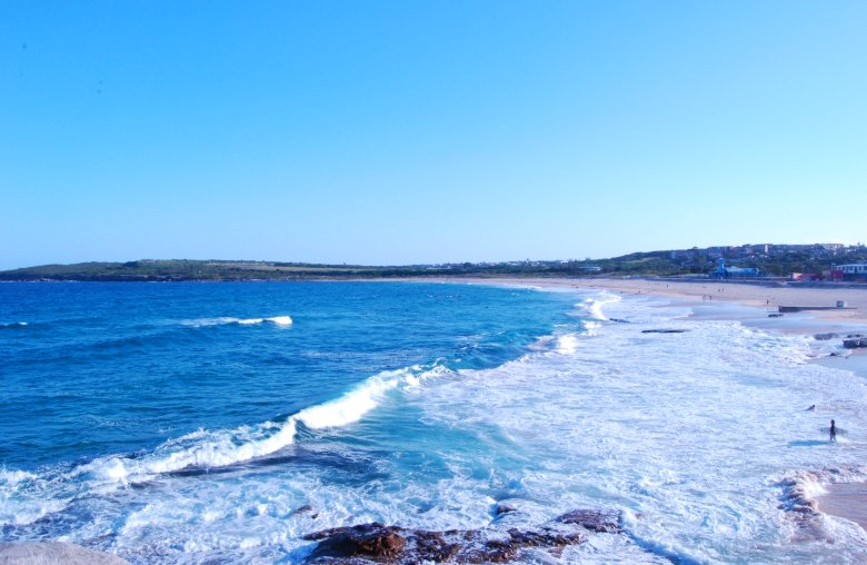 Maroubra Beach is close to the city.