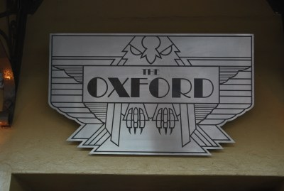 Sign at the Oxford Hotel