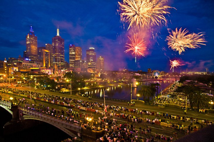 New Years Celebrated along the Yarra River