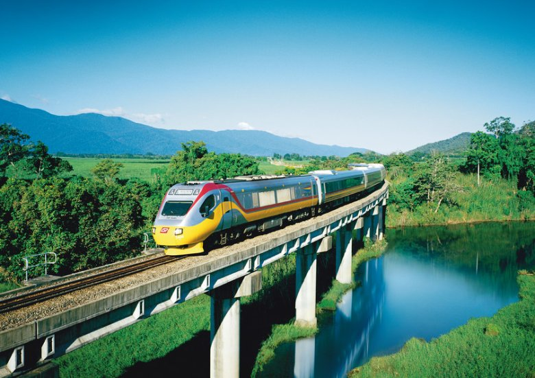 Tilt Train - Exploring Queensland from Brisbane to the Far North by Rail. © Queensland Rail