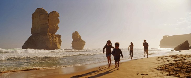 Beach by the Spires of the Twelve Apostles