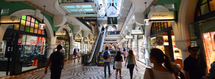 Shopping at the Queen Victoria Building QVB