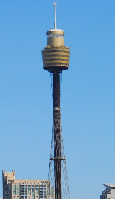 Sydney Tower marks one side of Pitt St Mall
