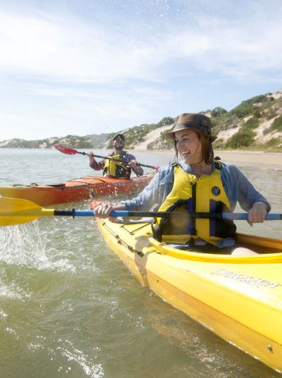 Canoe the Coorong River. Photographer:Michael Haines