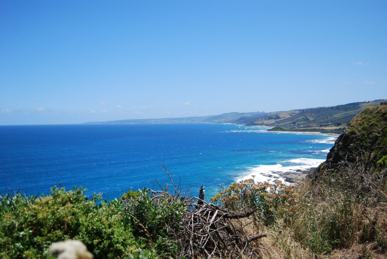 View of Apollo Bay, looking south west to Cape Otway