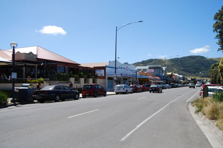 View of the Great Ocean Road at Apollo Bay