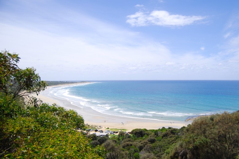 Sunnymeade Beach - Magnificent views from Urquhart Bluff on the Victoria Surf Coast