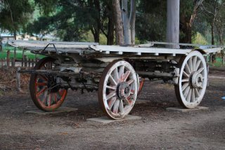 Bullock Wagon used to pull heavy loads