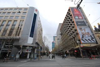 Bourke and Swanston St - Looking East