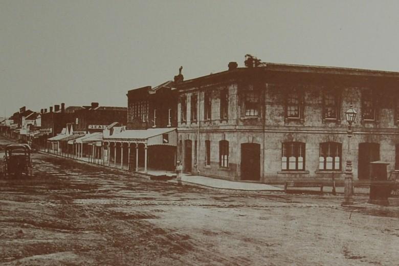 Bridge Road, Melbourne Australia in 1876