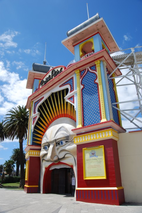 Landmark - The laughing face of Luna Park in Melbourne Australia