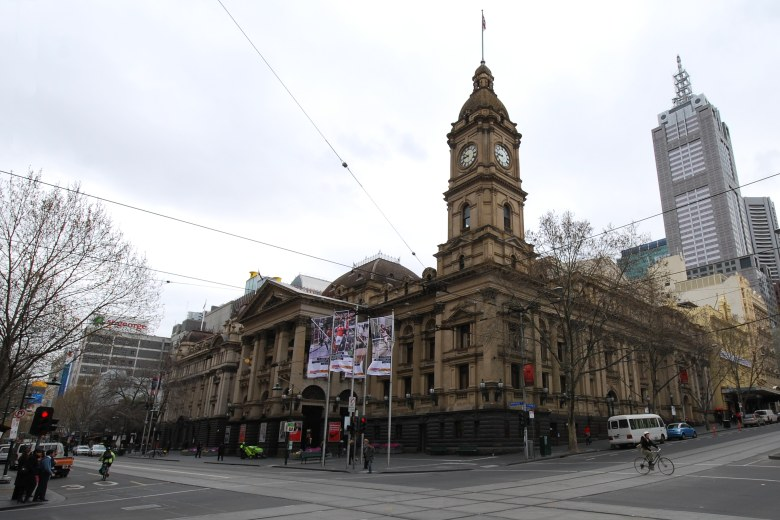 Wide Angle Photo of the Melbourne Town Hall