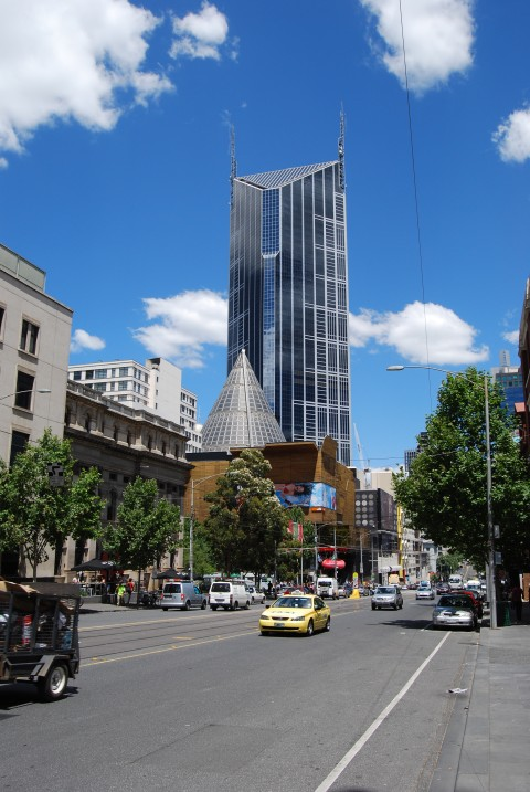 Melbourne Central with its Glass Dome - Swanston and La Trobe Streets