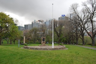 The original Flag Staff Monument