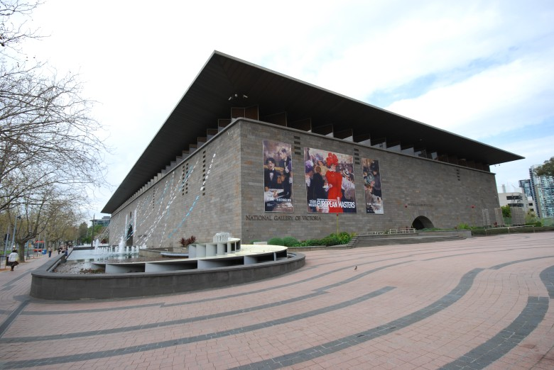 National Gallery of Victoria NGV - located at 180 St Kilda Road, Melbourne Australia