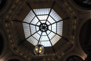 The Glass Dome at the Royal Arcade.