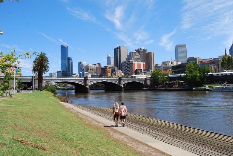 Melbourne City along the Yarra River